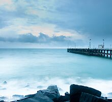 pondicherry beach by Sajeev Chandrasekhara Pillai