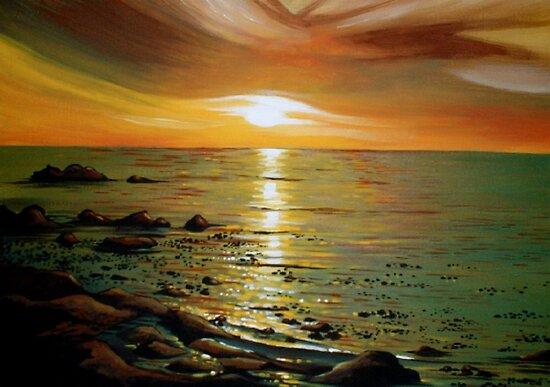 Atlantic Sunset by Cherie Roe Dirksen