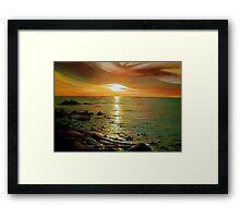 Atlantic Sunset Framed Print