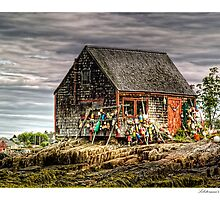 Lobsterman's Shack of Mackerel Cove by Richard Bean