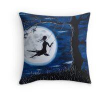 Moonlit Swing Throw Pillow
