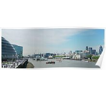 London Panorama with Thames river, from Tower Bridge Poster