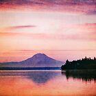 Sunrise Over Mount Rainier by Lynnette Peizer