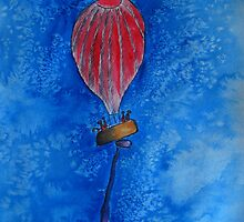 Red Balloon by Gunes Yilmaz