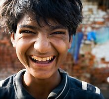 Smiling boy by Mark Smart