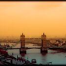 Sunset Over Tower Bridge by Jenn Louise