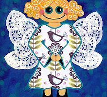 Blue Angel - She's mellow and sweet by Lisa Frances Judd ~ QuirkyHappyArt