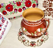Hungarian Pottery and Pillows by kenspics
