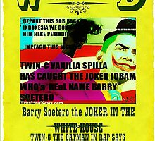 Twin-c Vanilla Spilla new white rapper has caught the joker in the WHITE HOUSE! by hiphopsfinestw