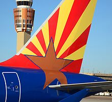 Arizona Flag Theme Airbus, Phoenix Sky Harbor Airport by Stephen Gay
