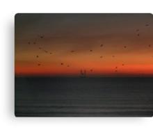 Oil Rig at 5:32AM Canvas Print