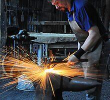 Blacksmith - Australiana Village Wilberforce NSW Australia by Bev Woodman
