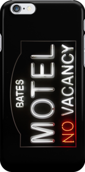 Bates Motel - Neon Sign - iPhone Case by Bryan Freeman