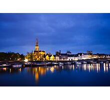 Maastricht, Sint-Martinuskerk And Maas River Photographic Print