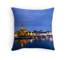 Maastricht, Sint-Martinuskerk And Maas River Throw Pillow