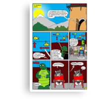 """Rick the chick  """"THE MAGIC SHELL (Il briefing) parte 27"""" Canvas Print"""