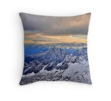 Mountain Alps Throw Pillow