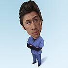 Zach Braff Caricature by Dan Johnson