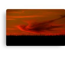 Harvest Sunset Canvas Print