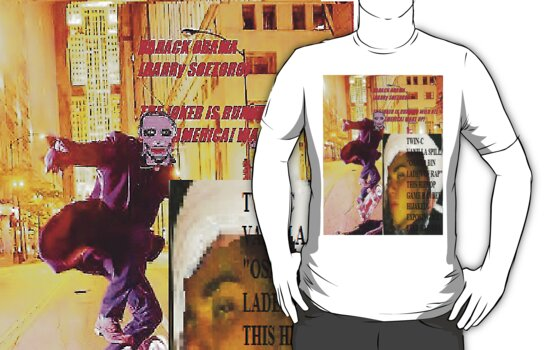 Barack OBAMA aka BARRY SOETORO JOKER T-SHIRT by hiphopsfinestw