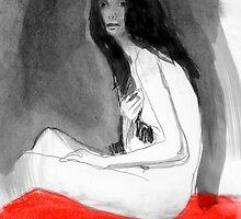 red blanket by Loui  Jover