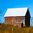Red Barn in the Fall by A. Kakuk
