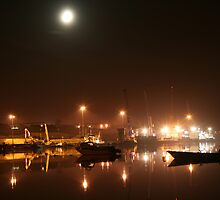 Lisahally Port by Moonlight by NiallMcC