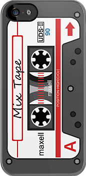 Mix Tape Cassette iPhone by Adam Angold