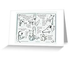 How The Bear Became Stumpy Tailed - Part One Greeting Card