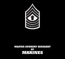 USMC E9 MGySgt BW by Sinubis