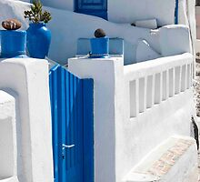 Oia Gate And Fence by phil decocco