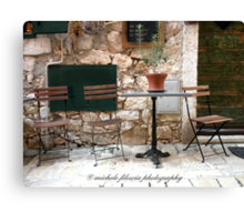 A Table and Chairs Canvas Print