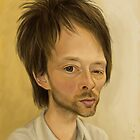 Thom Yorke from Radiohead Caricature by Dan Johnson