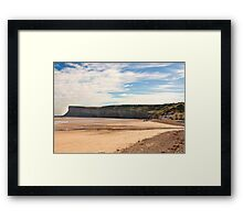 The Beach - Saltburn. Framed Print