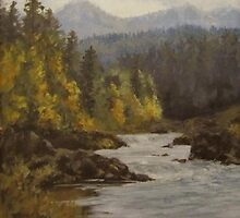 North Umpqua Autumn by Karen Ilari
