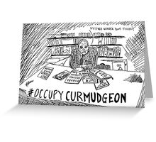 Andy Rooney RIP Occupy Curmudgeon Greeting Card