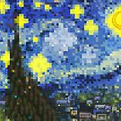 8-bit Starry Night by brotherbrain