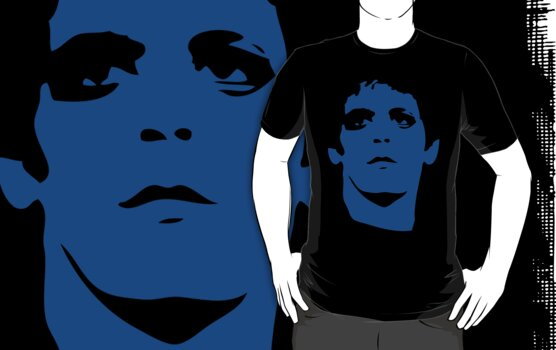 Lou Reed Blue Mask T Shirt by retrorebirth