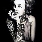 Ms. Marilyn Suicide I (Print) by VON ZOMBIE 