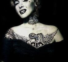Ms. Marilyn Suicide II (Print) by VON ZOMBIE ™©®