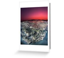 Sunset Over the Red Sea Reef Greeting Card