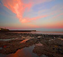 Sunrise At  Whitehaven Shoreline by WOBBLYMOL