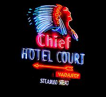Las Vegas Neon Collection - Chief Hotel Court by Bobby Deal