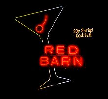 Las Vegas Neon Collection - Red Barn Martini by Bobby Deal