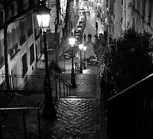 Un Escalier à  Montmartre by Nick Coates