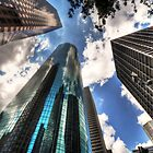 Looking up in Downtown Houston by tiptoncreative