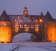 Narragansett Towers at Christmas by John McNamara