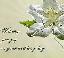 Wedding Wishes Card - White Azalea by MotherNature