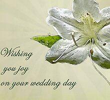 Wedding Wishes Card - White Azalea by MotherNature