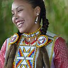 Native American Indian Girl by Maria Elena  Black